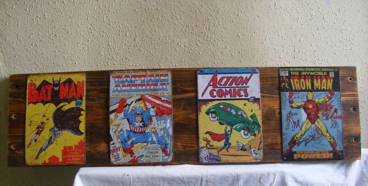 Marvel,DC comics metal sign