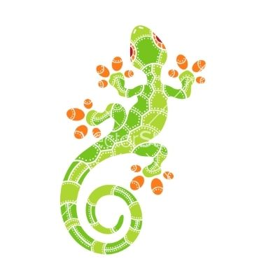 Decorative isolated cartoon lizard vector 4402868 - by ulyankin on VectorStock®
