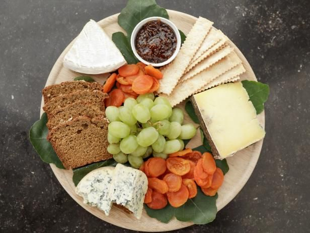 Get Cheese and Bread Platter Recipe from Food Network