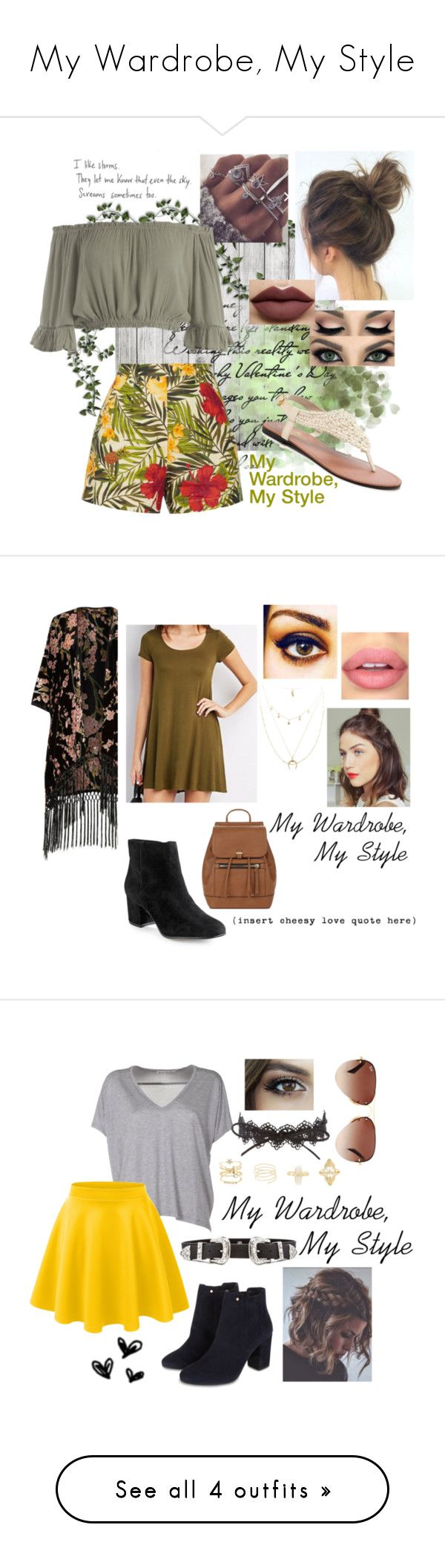 """My Wardrobe, My Style"" by foreverdisneybounding ❤ liked on Polyvore featuring Miguelina, Sans Souci, Charles Albert, Anastasia Beverly Hills, 424 Fifth, River Island, Charlotte Russe, Accessorize, ...Lost and Acne Studios"