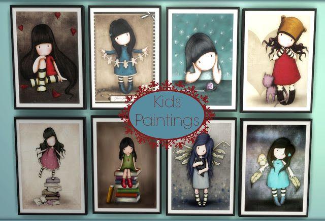 Sims 4 - Kids Paintings101