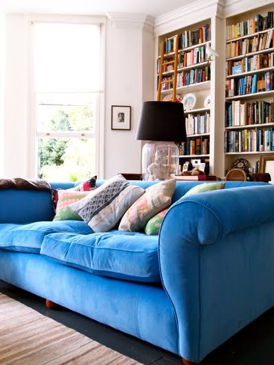 i want a blue couch this one looks like i would never want to leave