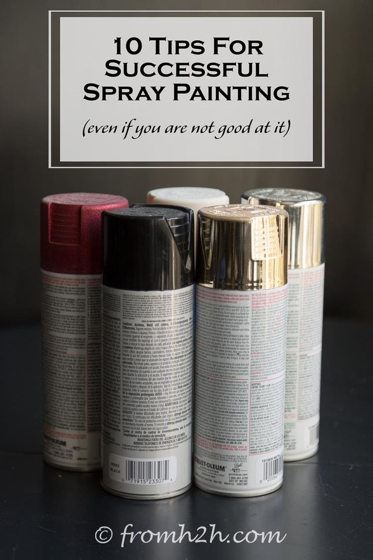 10 Tips For Successful Spray Painting (even if you're not good at it) | Want to use spray paint but have a hard time getting a smooth, even finish? Try these tips for successful spray painting.