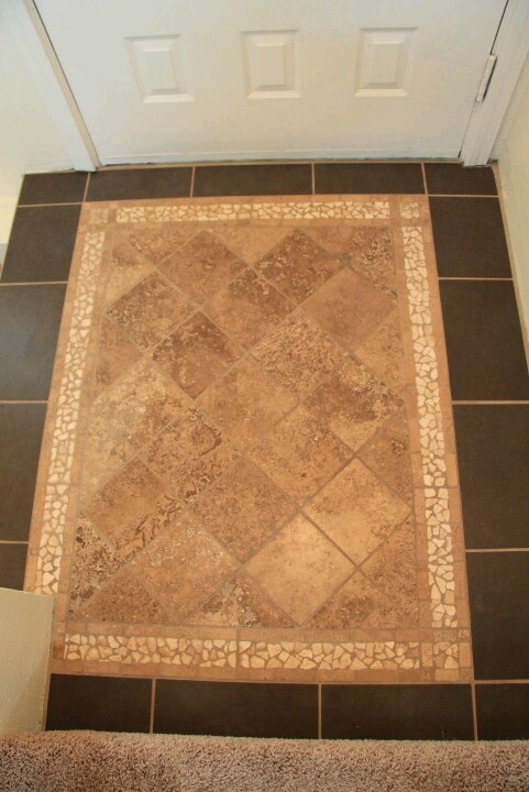 1000 images about entryway on pinterest wall niches for Tiled foyer entrance