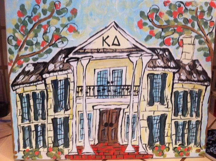 Funky Sorority House Painting. $45.00, via Etsy.