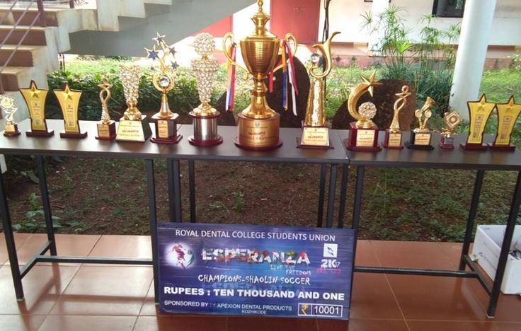Trophies won by the students of Educare, in the intercollegiate sports & cultural events (ESPERANZA) conducted at Royal #Dental_College, Palakkad Educare team won overall runner's up. CONGRATULATIONS TEAM EDUCARE !!!  #dentalscience #dentalcare #dentalcooagekerala #dentalcollageindia