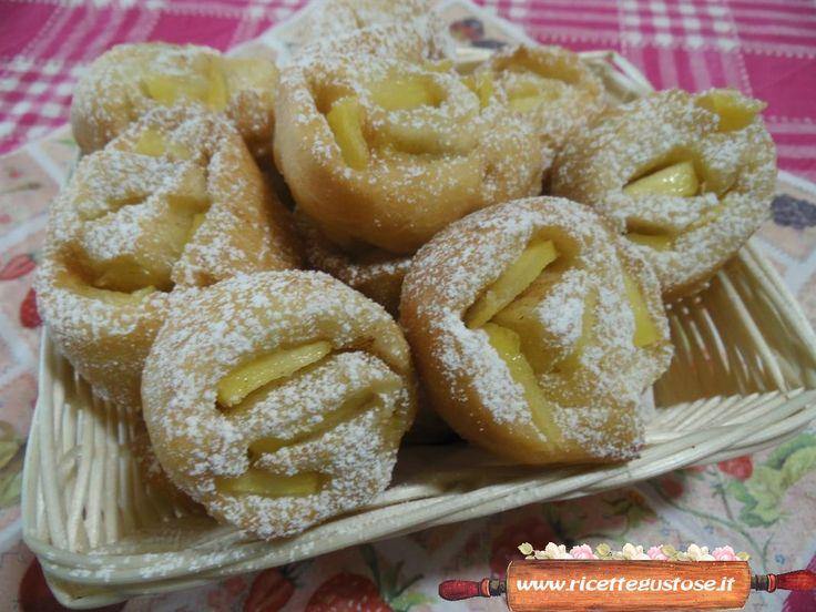ricetta facile e golosa per preparare le girelle fritte alle mele!