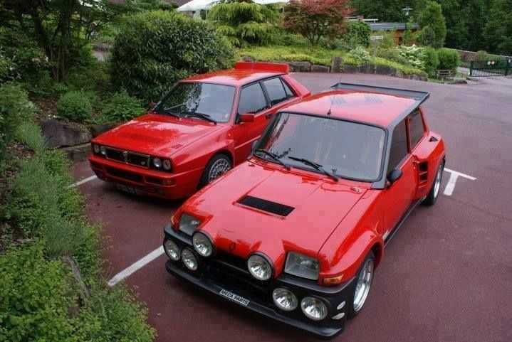 Sweet Dreams are made of these... Lancia Delta Integrale Evo + Renault R5 Turbo II