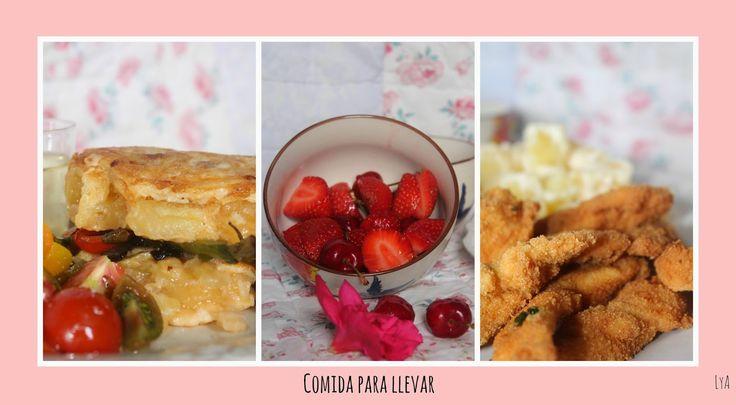 Pollo empanado y tortilla de patatas del blog Cocinando un abril encantado