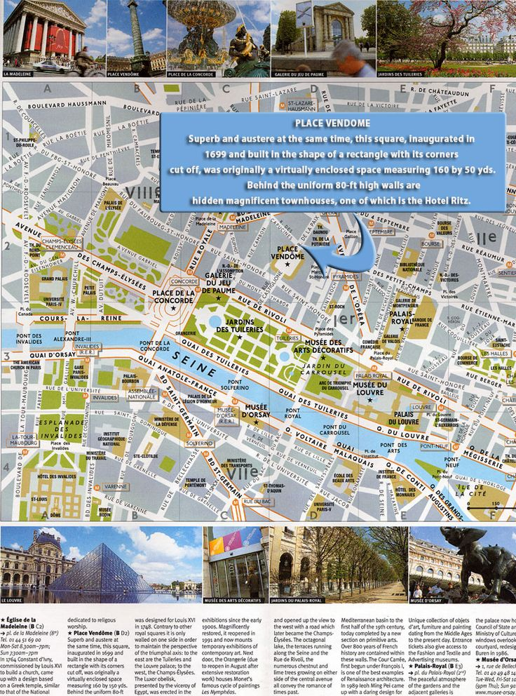 Paris Tourist Map Paris u2022 mappery