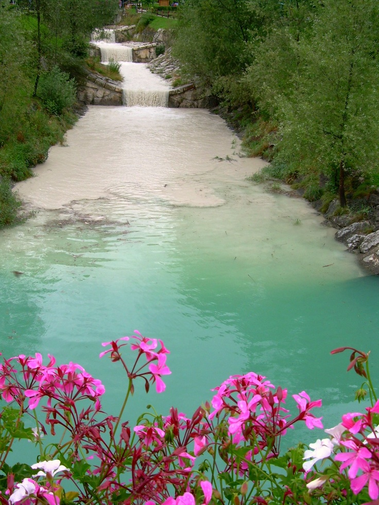 Photography via tumblr: Pink Flower, Nature, Open Spaces, Backyard Waterf, Color Combos, Beauty Place, Travel, Rivers, Photography