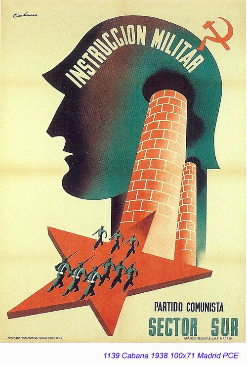 Spain - 1938. - GC - poster - autor: Cabana