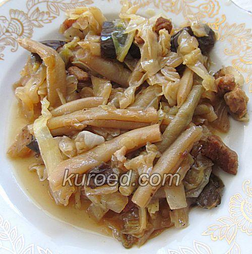 Овощное рагу с баклажанами и спаржевой фасолью