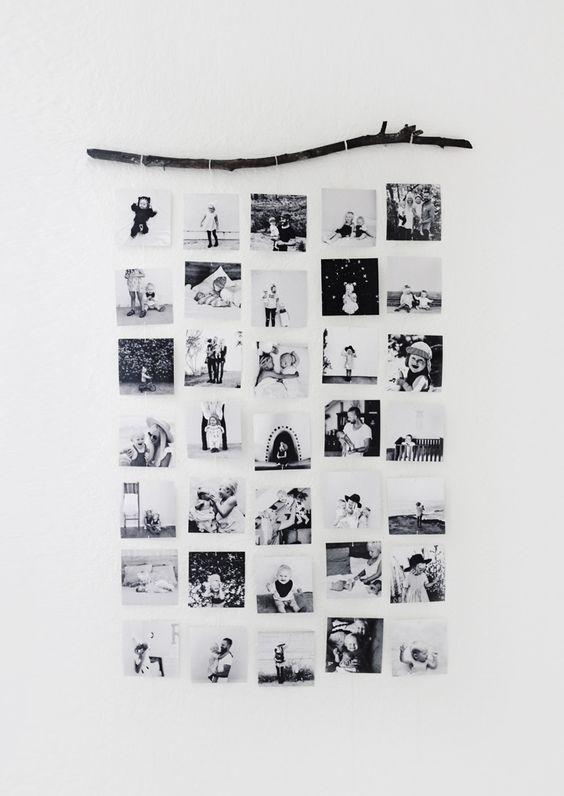 collage de fotos rustico