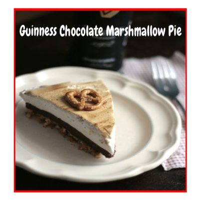 Guinness Chocolate Marshmallow Pie.  Click Picture & Get Your Copy of Mouthwatering St Patrick's Day Recipes http://marleneroberson.com/st-patricks-day-recipes/