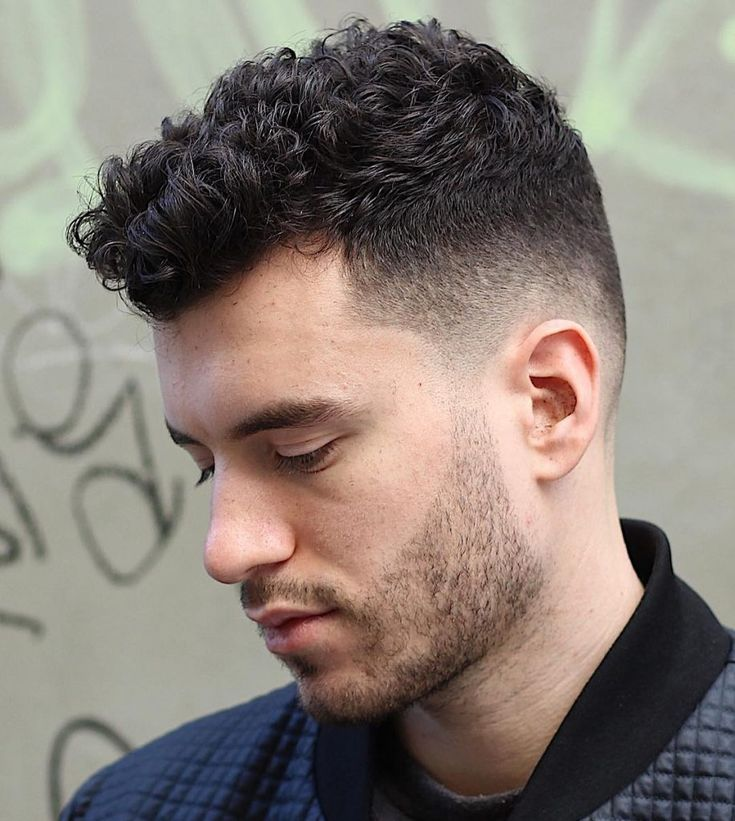Short Curly Fade Haircuts For Men Men S Curly Hairstyles Curly Hair Fade Curly Hair Men