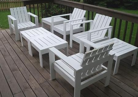 DIY outdoor furniture: honey make the furniture, I will make cushions :)