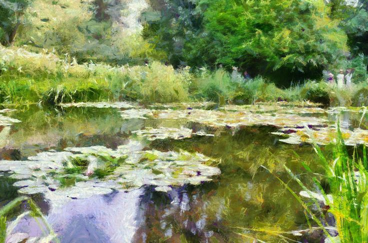 Claude Monet, Giverny, from photo using Dynamic Auto Painter from Mediachance