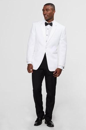 tux rental online tuxedo rental groomsmen black tie White jacket black pants