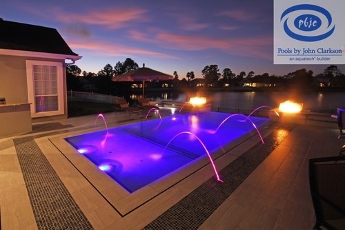 14 best linear pools images on pinterest fire pits for Pool design jacksonville fl