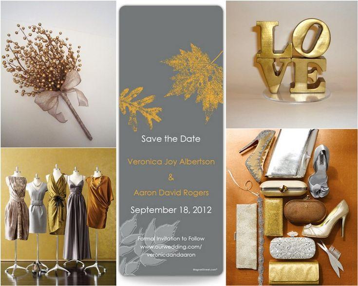 metallic wedding!