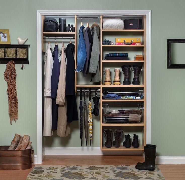Foyer Closet Organization : Foyer reach in closet secret finish closets pinterest