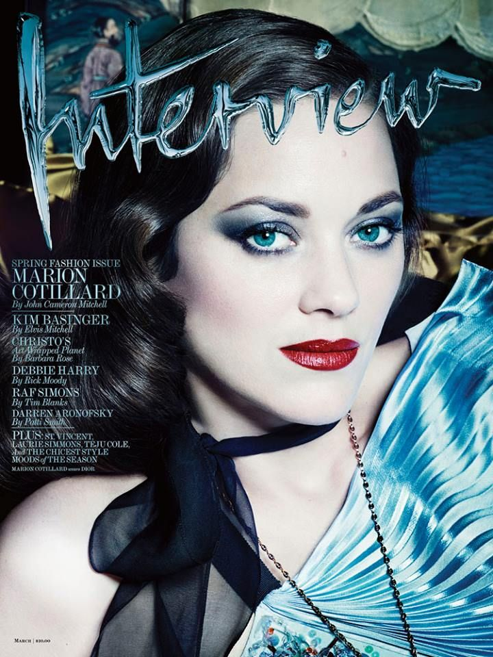 Marion Cotillar for Interview Magazine March 2014 cover.