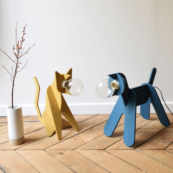 Marvelous Lampe chat Get Out Cat jaune Eno Studio Lumi Design La