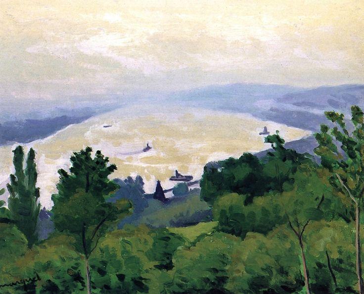 The Seine at Vieux Port Albert Marquet - 1927