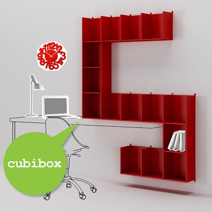 #Cubibox laccati in ciliegia. Catalogo complementi. www.moretticompact.com