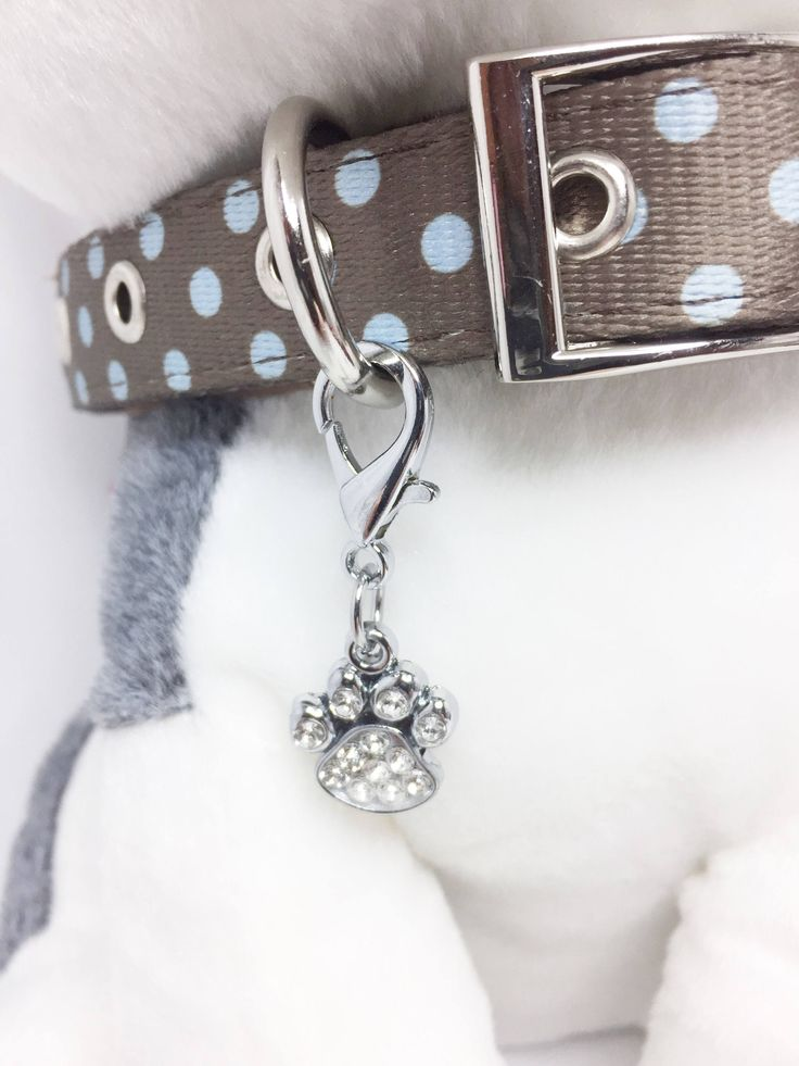 Diamante Pawprint Pet Collar Tag, Pet Collar Jewellery, Rhinestone Paw Print for Dog Collar, Cat Collar Jewellery, Add  Birthstone https://www.etsy.com/listing/563049884/diamante-pawprint-pet-collar-tag-pet?utm_campaign=crowdfire&utm_content=crowdfire&utm_medium=social&utm_source=pinterest