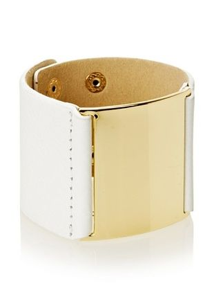55% OFF Jules Smith White Wide Leather Bracelet