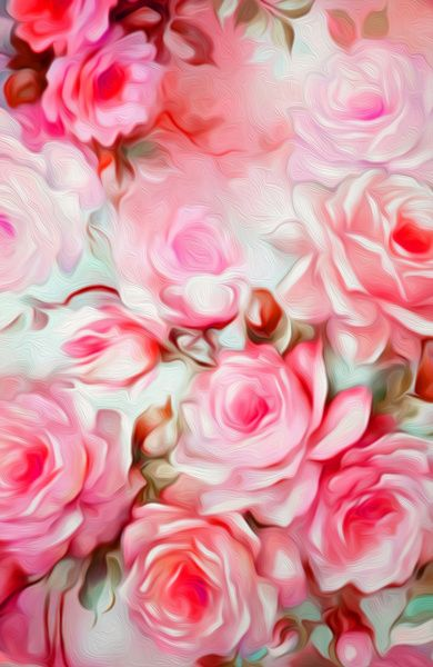 Shabby Chic Pink Art Print