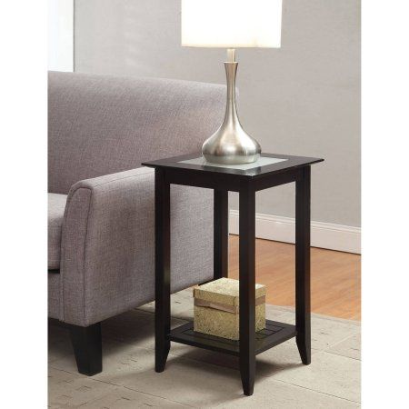 convenience concepts carmel tall end table multiple colors walmartcom