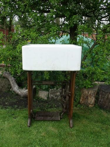 Singer sewing machine / belfast sink | eBay