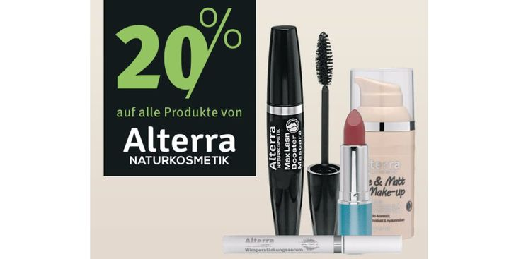 All organic and natural cosmetics from Alterra and more now on Sale at Rossmann.de!