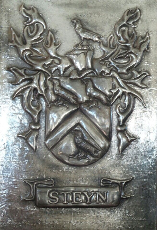 Family crest - Hand crafted Pewter Art