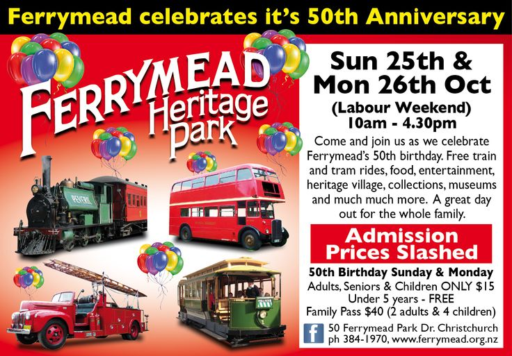 Ferrymead 50th Anniversary weekend - Sunday 25th October