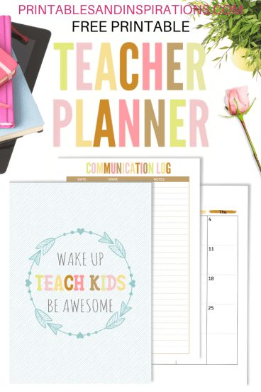 2020 2021 Teacher Planner Free Printable - Printables and ...