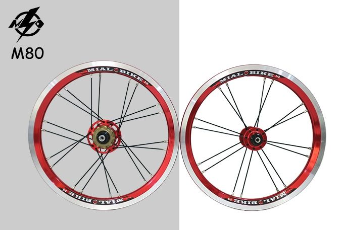 """169.00$  Buy here - http://ai6k1.worlditems.win/all/product.php?id=2015325071 - """"14"""""""" inch small wheel bike folding bicycle wheel ultra light Anodized color single speed 74mm 85mm width"""""""