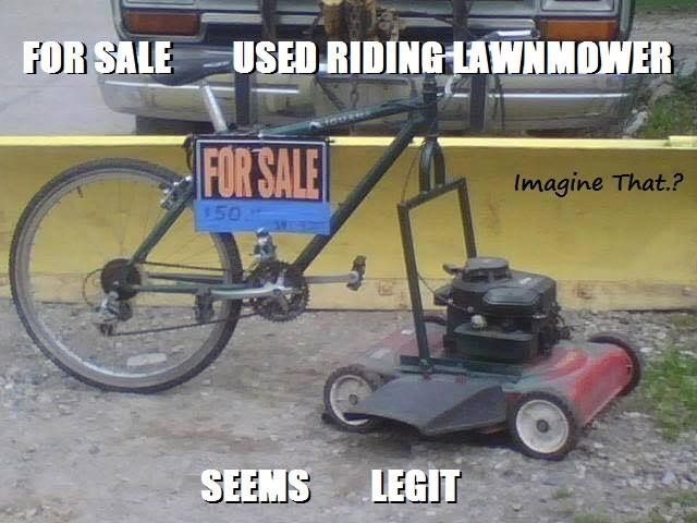 Pin By Cathleen Grubaugh On Funny Memes With Images Lawn Mower Riding Mowers For Sale Riding Lawn Mowers