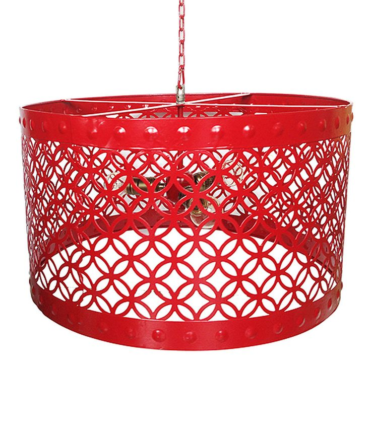 Look at this Sangria Red Pendant Chandelier on #zulily today!