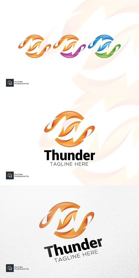 Thunder - Logo Template   Planet Graphic Design   Logo