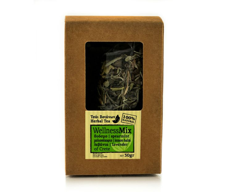 Tea with therapeutic properties of mint, lemon balm (Melissa officinalis) and lavender. Combats stress, insomnia, nausea, helps digestion and stomach-ache, high fever and colds. The outer packaging is 100% recyclable.