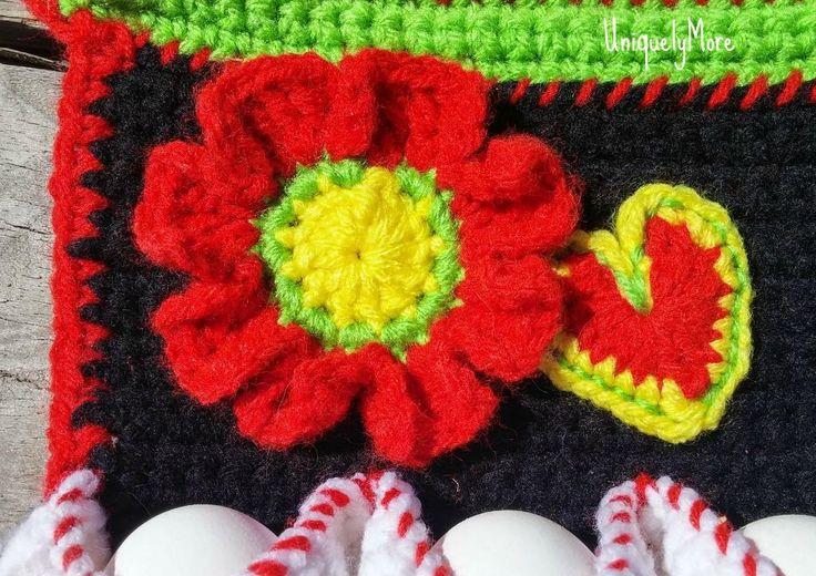Crochet Egg Apron : Name: Crocheting : Egg Gathering Apron