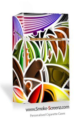 Arty design on a cigarette case via www.smoke-screenz.com