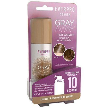 Gray Away Womens Temporary Root Concealer, Lightest Brown/Medium Blonde 1.50 oz, Multicolor