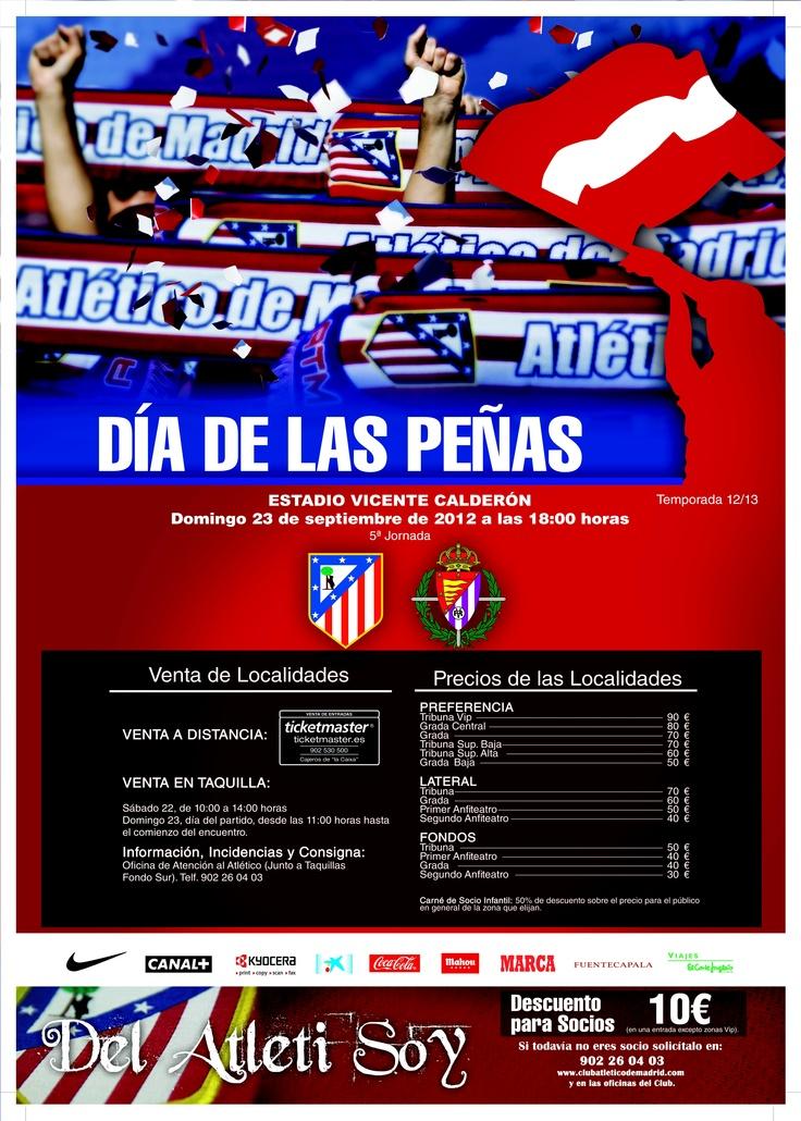 Este domingo 23 de septiembre se celebra en el Calderón el día de las peñas. Los #AtleticosPorElMundo se reencontrarán en el Calderón. ¿Te apuntas?