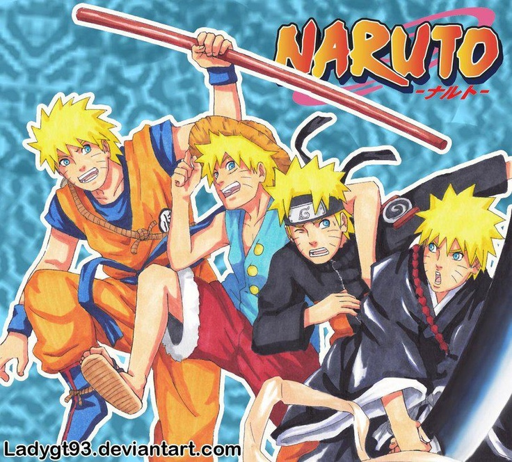 Naruto crossover with dbz one piece and bleach anime - Naruto and dragonball z ...