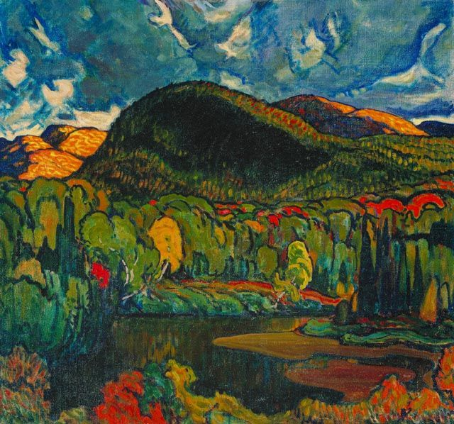 57. re-pins - Gleams on the Hills by Group of Seven Painter J. E. H. MacDonald (1873-1932)
